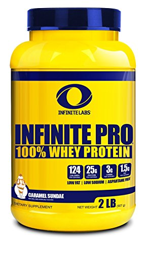 Infinite Labs Infinite Pro 100% Whey Protein Powder (2 LB, Caramel Sundae) Review