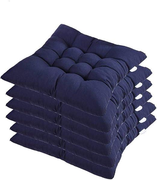AGDLLYD 6 cómodos Cojines para Silla,Cojines de Silla Exterior ...