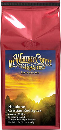 Mt. Whitney Ground Coffee (Organic Honduras Cristian Rodriguez, 2lb)