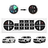 #5: ATRACYPART AC Dash Button Sticker Repair Kits for Chevy Tahoe, Silverado, Avalanche, Traverse, GMC Sierra, Yukon, Buick Enclave | fix Ruined Faded A/C Controls | Year Models 2006-2014
