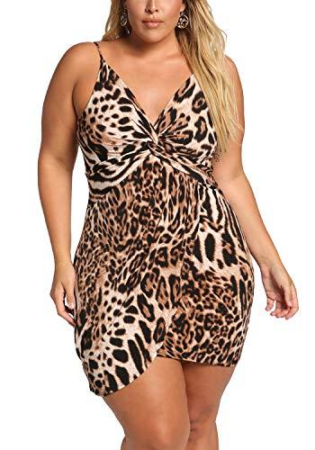 Plus Size Leopard Bodycon Dress Debshops Twisted Womens Leopard xBnw5p
