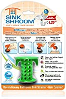SinkShroom SSGRE988 The Revolutionary Sink Drain Protector Hair Catcher/Strainer/Snare, Green