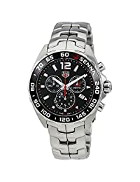 TAG Heuer Men's Steel Bracelet & Case Sapphire Crystal Swiss Quartz Black Dial Watch CAZ1015.BA0883
