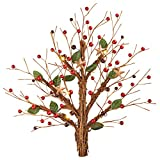 Lighted Rustic Berry Twig Wall Tree