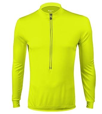 Tall Men s High Viz Safety Yellow Long Sleeve Jersey - Made in USA (Medium) cfb469674