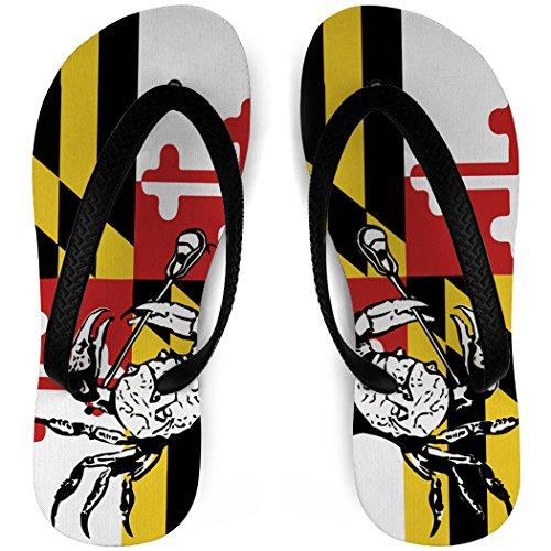 Guys Lacrosse Flip Flops Marylandラクロス