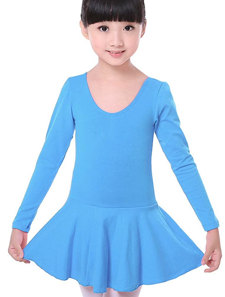 ARAUS Kids Girls Dance Leotard Tutu Skirt Sleeveless Short Sleeve Ballet Gymnastic Dress Bodysuit Dancewear Costume Clothes for 2-15 Years