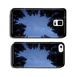 Beautiful night winter landscape with the stars cell phone cover case Samsung S6