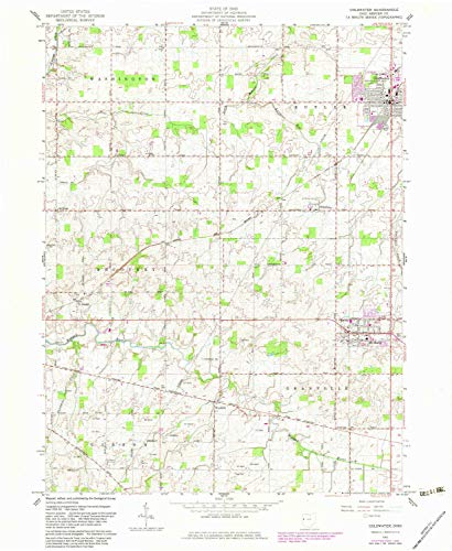 YellowMaps Coldwater OH topo map, 1:24000 Scale, 7.5 X 7.5 Minute, Historical, 1961, Updated 1983, 26.8 x 22 in - Tyvek