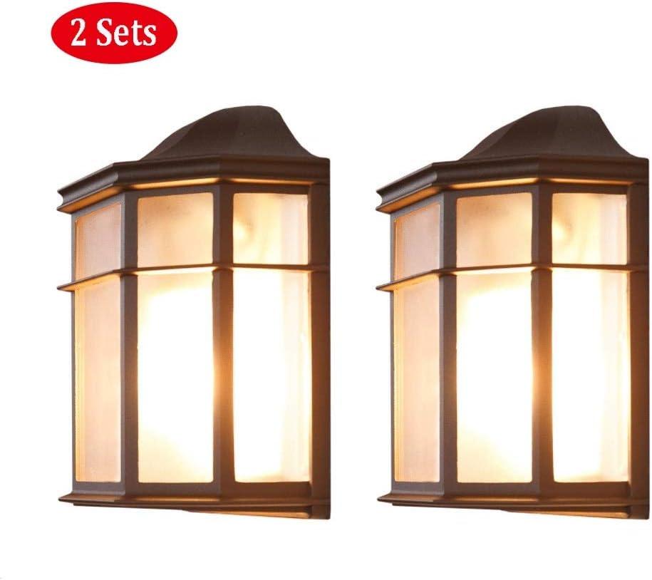 Lámpara de pared 25,2 cm | Farol de pared de estilo rústico campestre. | luz exterior antigua | Iluminación de la terraza en forma clásica | aplique de pared exterior marrón E27 + aplique IP23 + regul