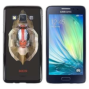 Dragon Case - FOR Samsung Galaxy A3 - Stupid baboons - Caja protectora de pl??stico duro de la cubierta Dise?¡Ào Slim Fit