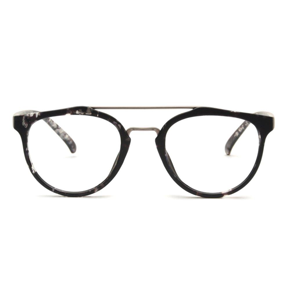 TIJN Flat Top Optical Cross-bar Eye Glasses Frames for Women 00029901