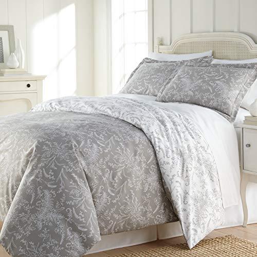 - Hemau Premium New Soft Southshore Fine Linens - Winter Brush Print - Reversible Comforter Sets, 3 Piece Set, King/California King, Steel Grey | Style 503194388