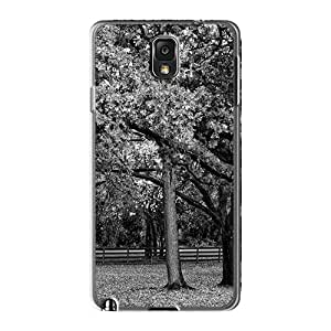 For Galaxy Note 3 Tpu Phone Case Cover(trees Black And White)