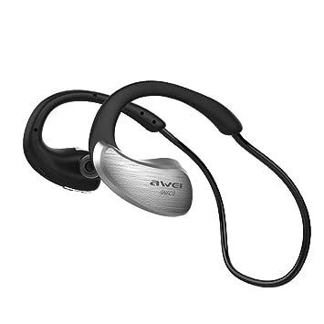 Ouneed Bluetooth Headset, Awei Bluetooth V4.1 Auriculares estéreo inalámbricos Deportes del micrófono Auricular para iOS Android (Gris): Amazon.es: Deportes ...