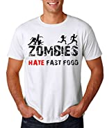 AW Fashion's Zombie Hate Fast Food - Funny Zombie Shirt Men's T-Shirt