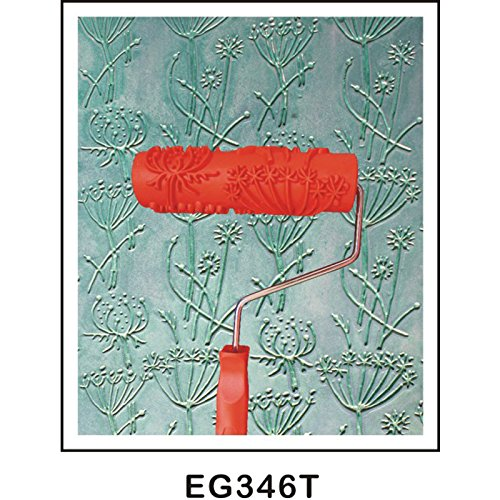 F Fityle 2 stk Gepr/ägte Malerei Farbrollen Walzenb/ürste mit Muster