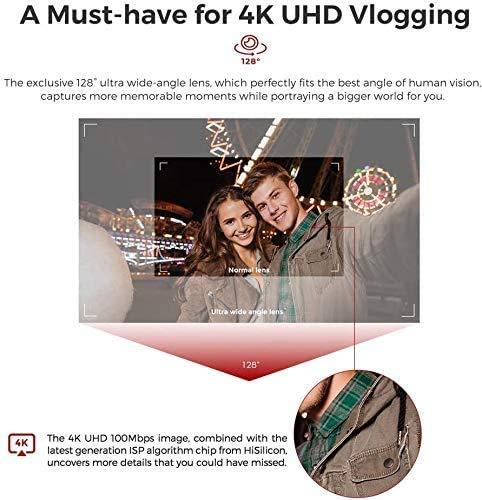 FIMI Palm Stabilizzatore cardanico a 3 assi tascabile con fotocamera intelligente 4K, obiettivo ultra grandangolare 128 °, 120g, microfono incorporato e microfono esterno supportati 6 spesavip