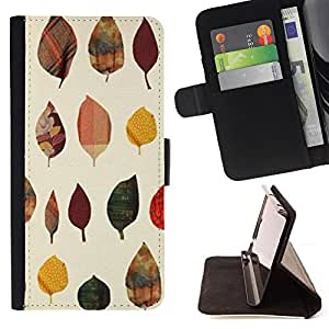 Jordan Colourful Shop - leaves poly art minimalist For Apple Iphone 4 / 4S - Leather Case Absorci???¡¯???€????€?????????&A