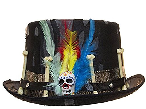 Jacobson Hat Company Men's Witch Doctor Top Hat, Black, Adjustable