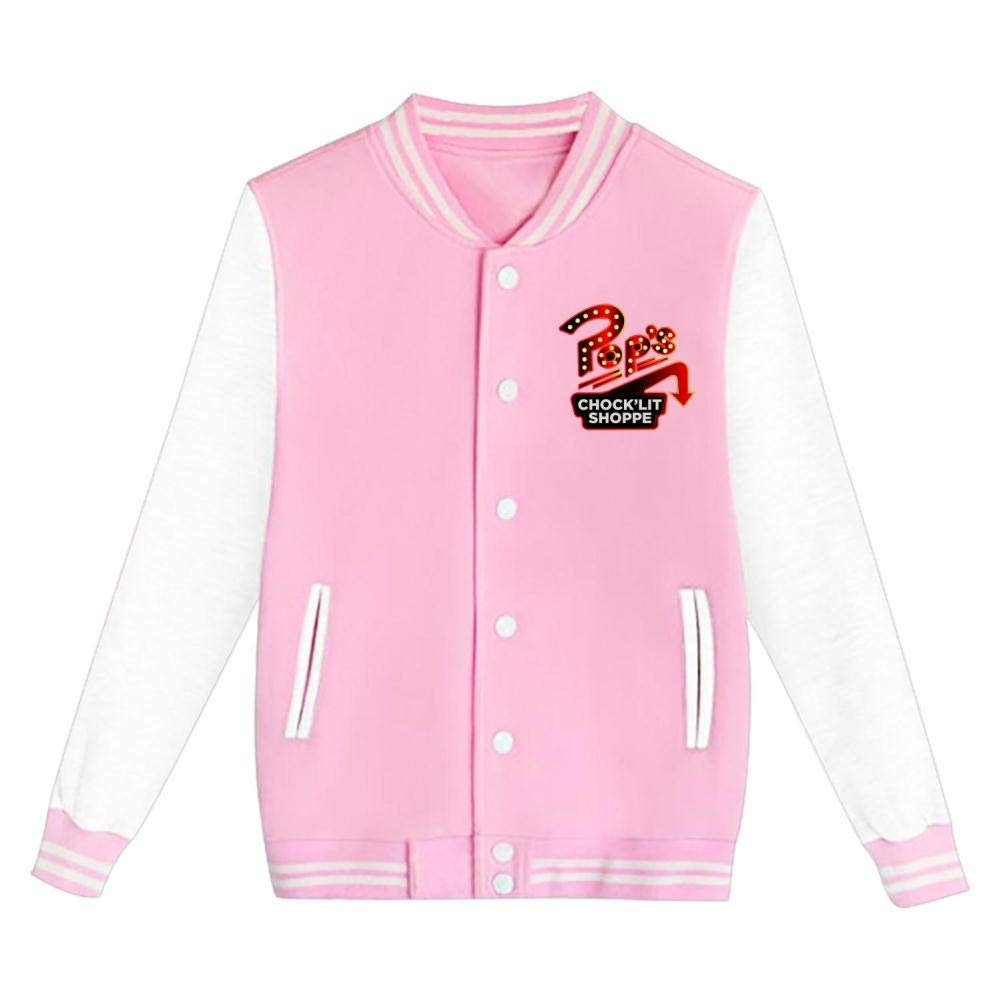 Youth//Kids Pops Chocklit Shoppe Letterman Jacket Varsity Baseball Bomber Cotton Jacket