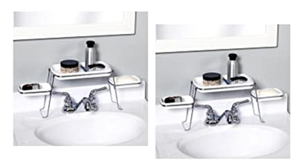 Amazon.com: Pack of 2 Small Spaces Over-the-Faucet Shelves: Kitchen ...