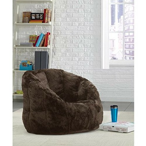 Cocoon Faux Fur Bean Bag Chair Lightweight yet durable, It Can Easily Be Moved About In A Room (Brown)
