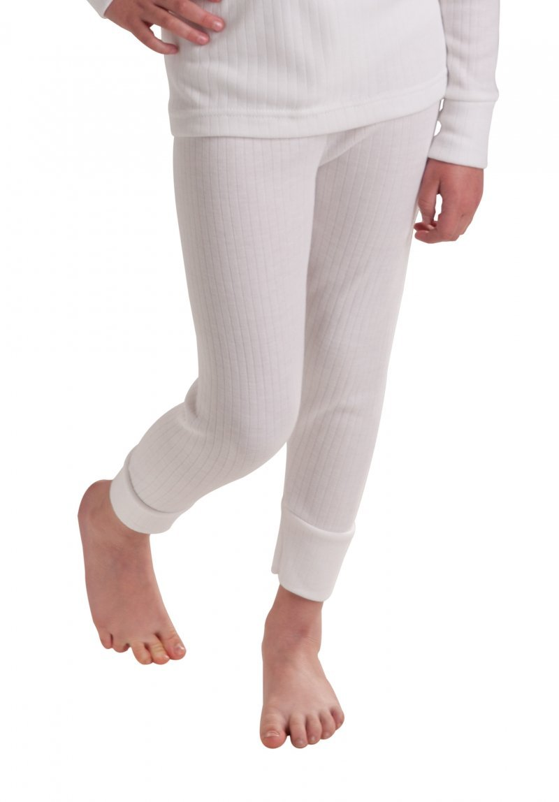 Octave 12 Pack Girls Thermal Underwear Long Johns/Pants/Long Underwear (2-3 yrs [Waist: 19.5 inches], White)
