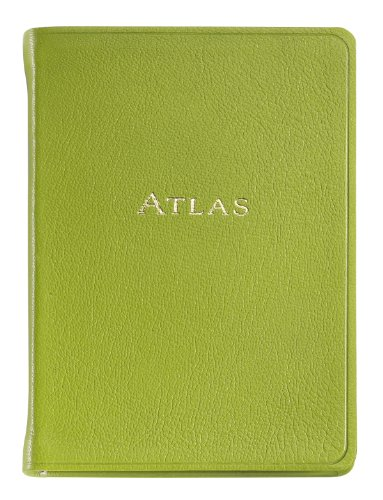 Graphic Image The Traveler's Atlas, Goatskin Leather Lime (AUWMRBLGTILIM), Office Central