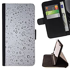 For Sony Xperia Z1 L39 Case , Wtaer vidrio- la tarjeta de Crédito Slots PU Funda de cuero Monedero caso cubierta de piel