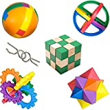 6 Piece Strategy Games for Kids Bundle: IQ Toys, Math and Logic Puzzle Set