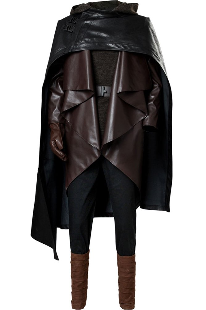 Cosplaysky Star Wars 8 The Last Jedi Luke Skywalker Costume Halloween Outfit Ver.1 X-Large