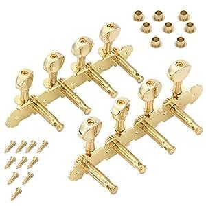 Guitar Tuner Key Of E : 4r 4l golden set mandolin guitar tuning keys pegs machine heads tuner musical ~ Hamham.info Haus und Dekorationen