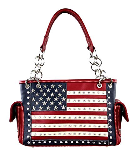 Montana West American Pride Concealed Handgun Collection Purse (Medium (Satchel))