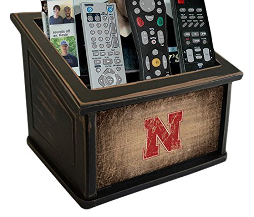 Fan Creations C0765-Nebraska University of Nebraska Woodgrain Media Organizer, Multicolored