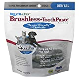 Ark Naturals Gray Muzzle Breath-Less Brushless Toothpaste, Dental Chews for Medium Dogs, Plaque, Tartar, and Bacteria Control, Chewable, Easy Digestion, Mess Free, Natural Ingredients, 4.1 oz. Bag