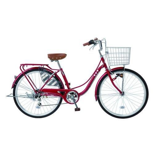 パンクしない自転車 ファッション軽快車 26型 外装6段変速 LT11 26インチ B07B855W89