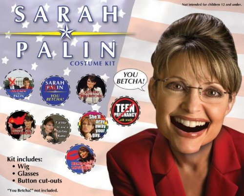 Costume Accessory: Governor Sarah Palin Kit - Product Description - Look Like Alaska'S Most Memorable Governor With This Wig, Glasses, And Button Cut-Outs. (Governor Sarah Palin Kit)