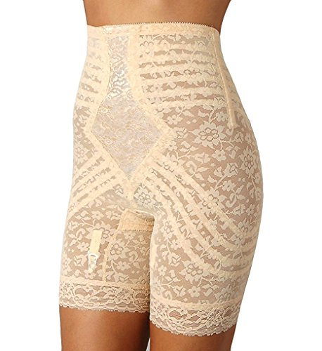 Waist Long Leg Pantie Girdle Style 6207 - Beige - 3XLarge (Long Leg Pantie Girdle)
