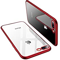 TORRAS Crystal Clear iPhone 8 Plus Case/iPhone 7 Plus Case, Soft Cover Case with Electroplated Frame Ultra Slim TPU Gel Case Compatible with iPhone 7 Plus/8 Plus