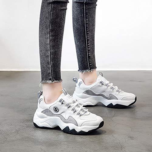 5 Calzados Mujer Gruesas 6size Informales De Tamaño Panda Retro Zhijinli 7 Para Zapatos Zapatillas Calzado H7UnUqdw