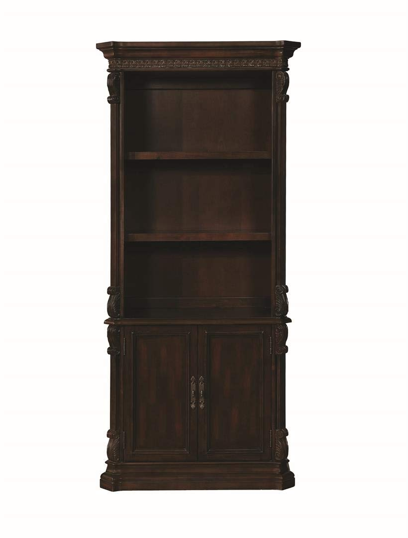 Coaster Home Furnishings Tucker Open Bookcase with Storage Base Rich Brown