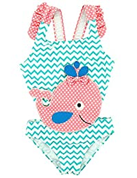 Baby Girl One Piece Swimsuit Printed Bikini Swimwear Beach Bathing Suit