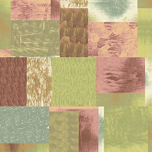 (Muran Blocks Patch Multi Earthtone Quliting 100% Cotton Fabric by The Yard)