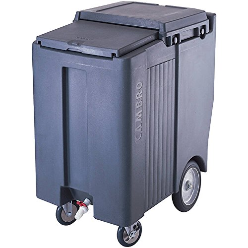 Cambro ICS200TB-191 Sliding Lid Polyethylene Tall Ice Caddy, 39-1/2-Inch, Granite Gray - Granite Gray Food Transport Cart