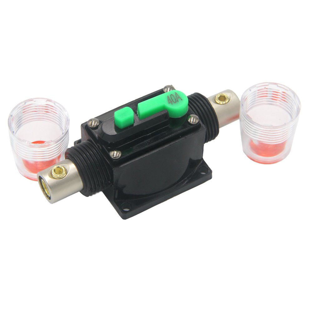 Fuse Holder,ZOOKOTO Inline Circuit Breaker Reset Fuse Inverter for Car Audio and Amps Overload Protection 12V-24V DC Replace Fuses(40Amp) by ZOOKOTO (Image #2)
