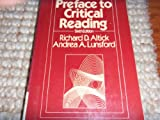 Preface to Critical Reading, Altick, Richard Daniel, 0030613736