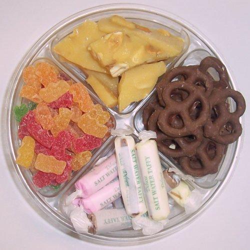 Scott's Cakes 4-Pack Peanut Brittle, Dark Pretzels, Salt Water Taffy, & Sour Gummie Bears by Scott's Cakes