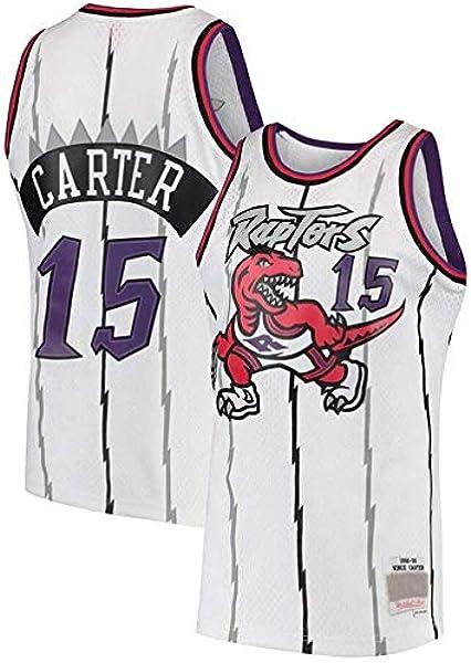 Xisnhis Nba Jerseys Heren Vrouwen Jersey Toronto Raptors 15 Carter Jerseys Ademend Geborduurd Basketbal Swingman Jersey Size S Xxl Amazon Nl