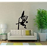 """Dnven (Black 22""""w X 38""""h) Vinyl Basketball Players Slam Dunk Silhouette Wall Decals Stickers for Boy Rooms Bedrooms"""